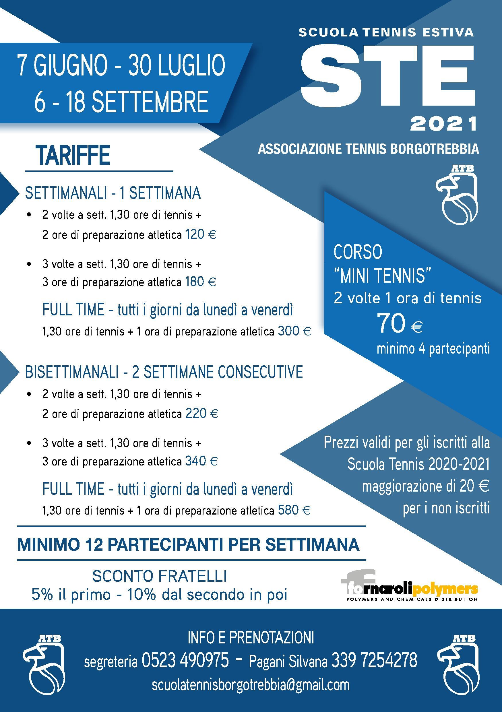 Scuola Tennis Estiva 2021